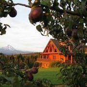Lodge at sunset