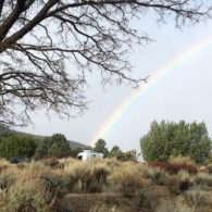 Airstream at the end of a rainbow
