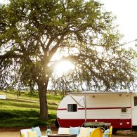 The Petite Suite Courtyard, three retro style campers with all modern conveniences.