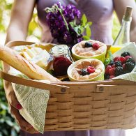 Add an optional breakfast basket during your stay includes delivered fresh fruit, baked pastries and seasonal cheeses.