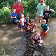 Fun in the creek at Heritage Farm