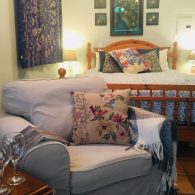 Master bedroom, Morning Song Farm, CA