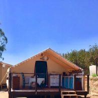 Tent exterior, Morning Song Farm, CA
