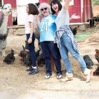 Ester Perez Family with Alpaca, Morning Song Farm, CA