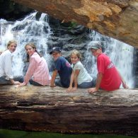 Guests enjoying waterfall!