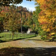 The Old Farmhouse in the fall.