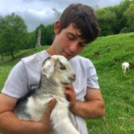 Cuddle a goat