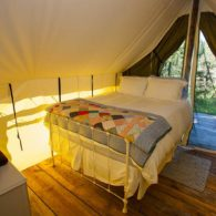 Cozy tent cabin