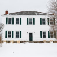 Blind Buck Valley Farmstead's farmhouse in winter