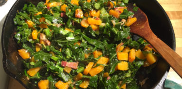 Collard Greens with Winter Squash and Bacon from Cook With What You Have
