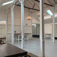 Inside the barn event center