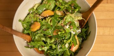 Arugula, Peach and Blue Cheese Salad | Cook With What You Have